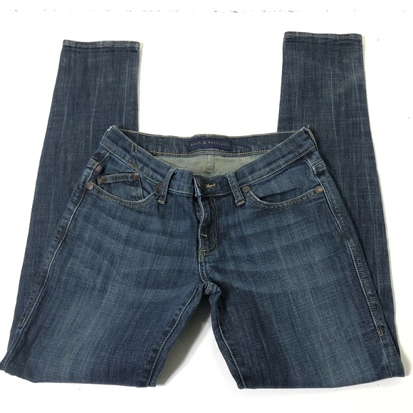 Rock & Republic Denim - Rock & Republic Size 0 Emo Skinny Blue Jeans